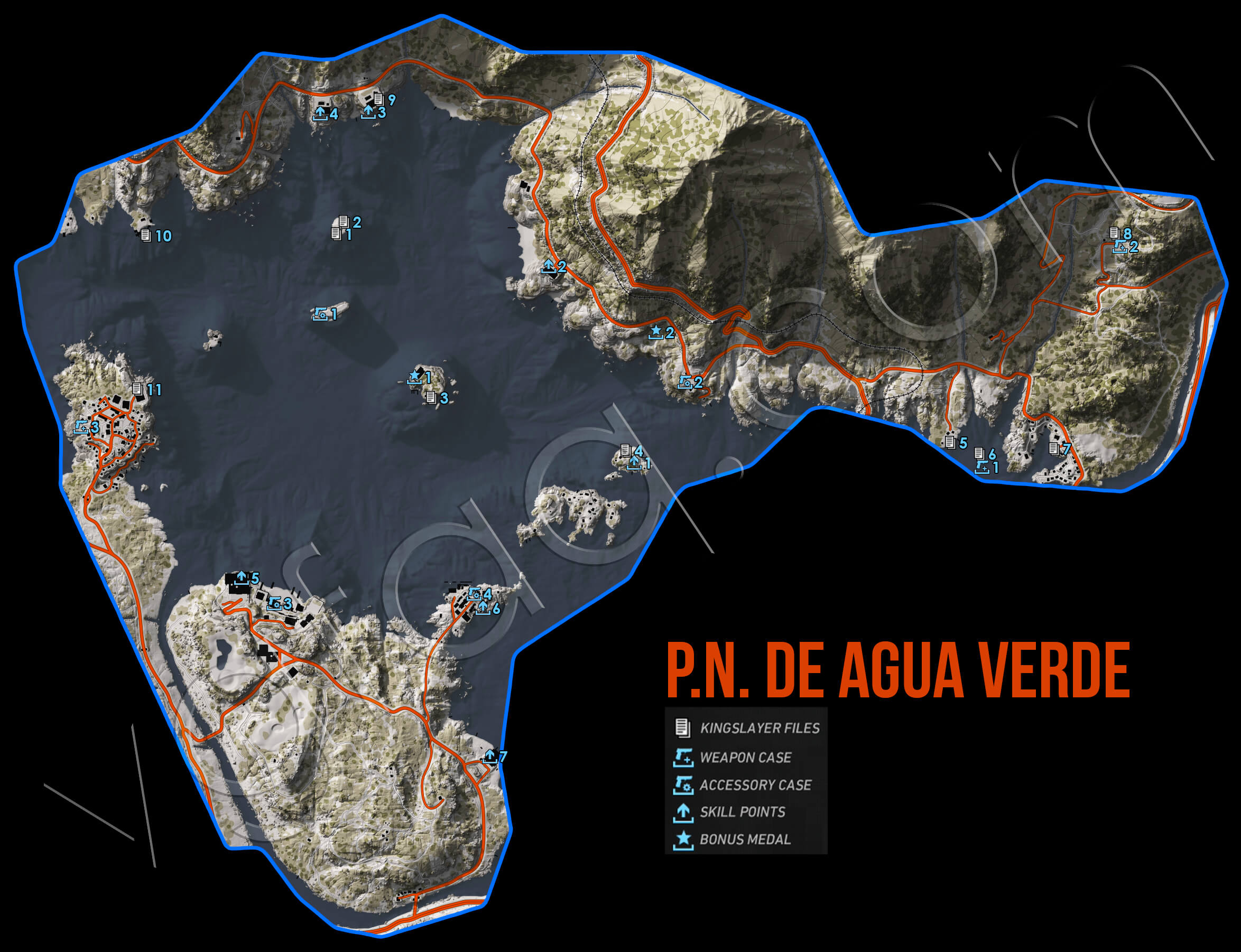 Ghost Recon Wildlands PN De Agua Verde Collectables Map