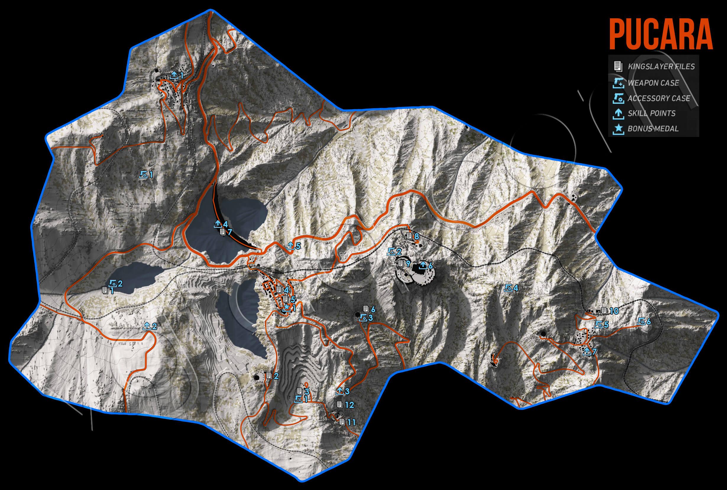 Ghost Recon Wildlands Pucara Collectables Map