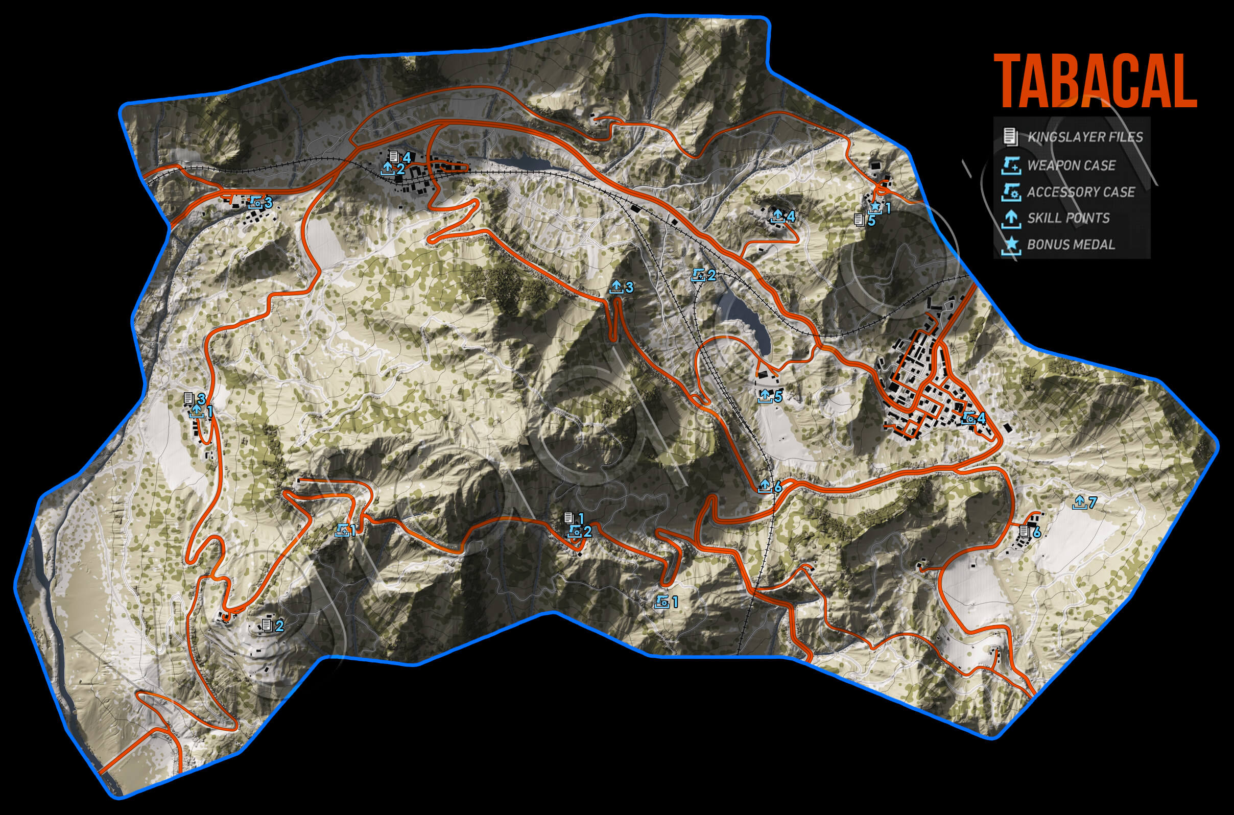 Ghost Recon Wildlands Tabacal Collectables Map