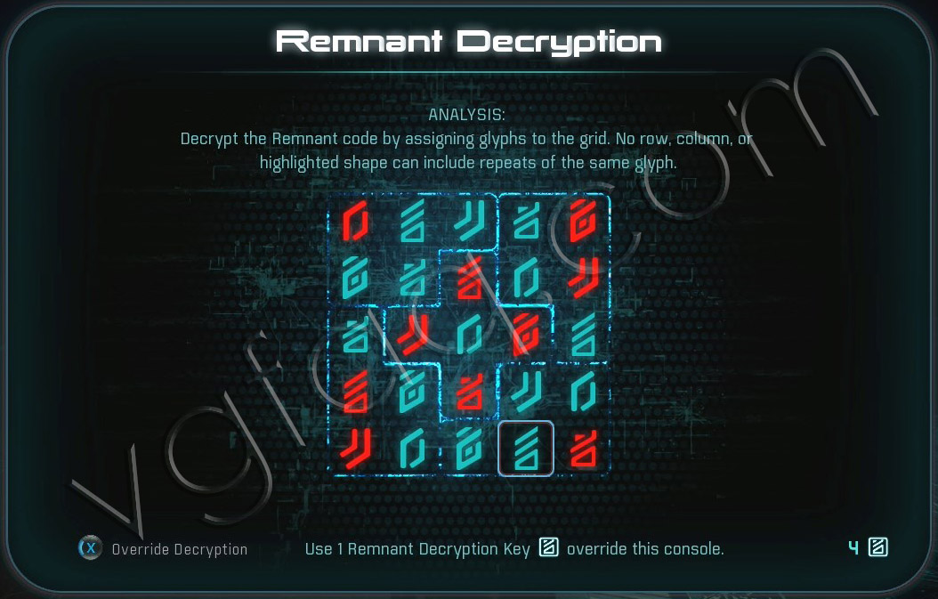 Mass Effect Andromeda Remnant Decryption Puzzle - Elaaden Derelict Ship - Investigate the Remnant Derelict