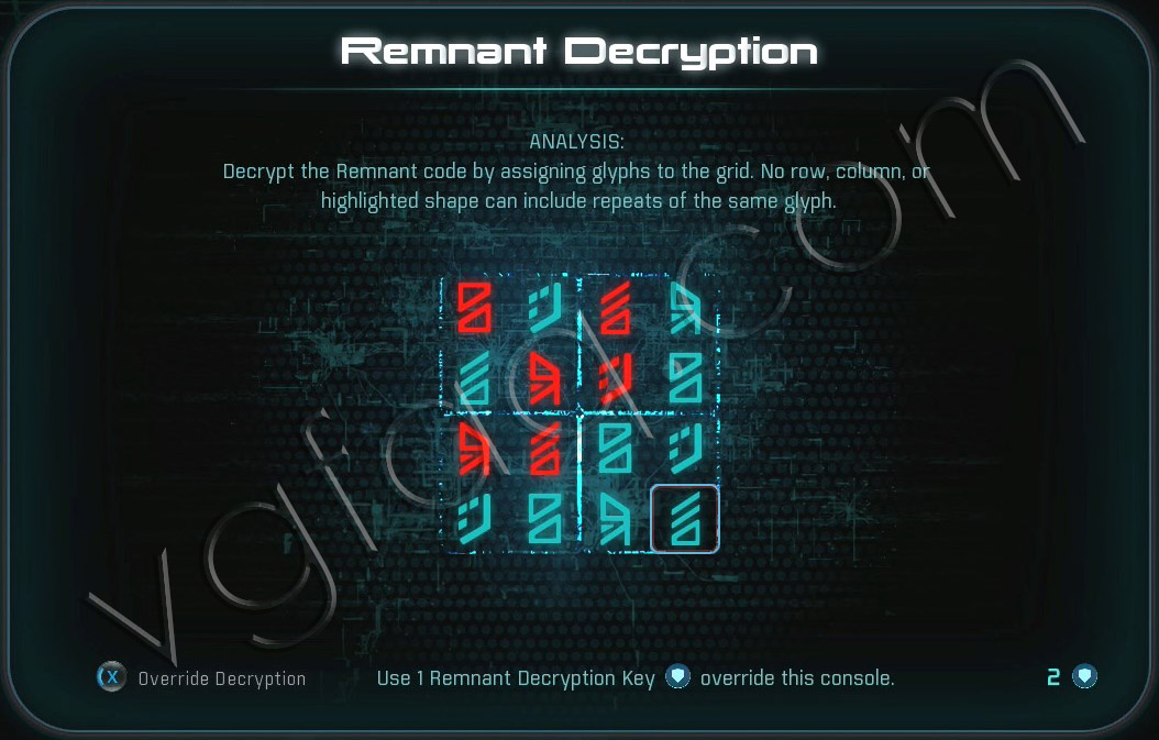 Mass Effect Andromeda Remnant Decryption Puzzle - Eos - Task Data Trail