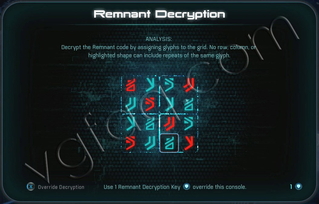 Mass Effect Andromeda Remnant Decryption Puzzle - Havarl - Fusion Mod of Adrenaline