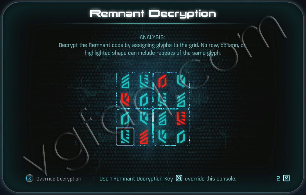 Mass Effect Andromeda Remnant Decryption Puzzle - Kadara Remnant Vault - Healing Kadara's Heart