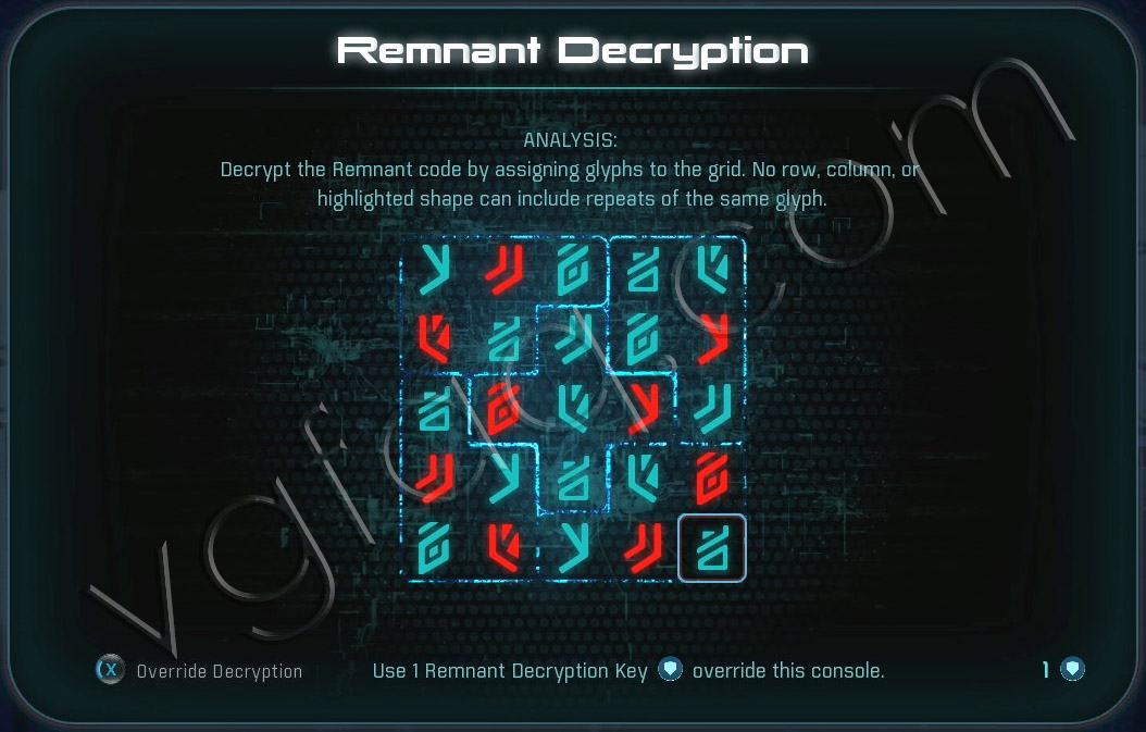 Mass Effect Andromeda Remnant Decryption Puzzle - Voeld North Monolith - Restoring a World