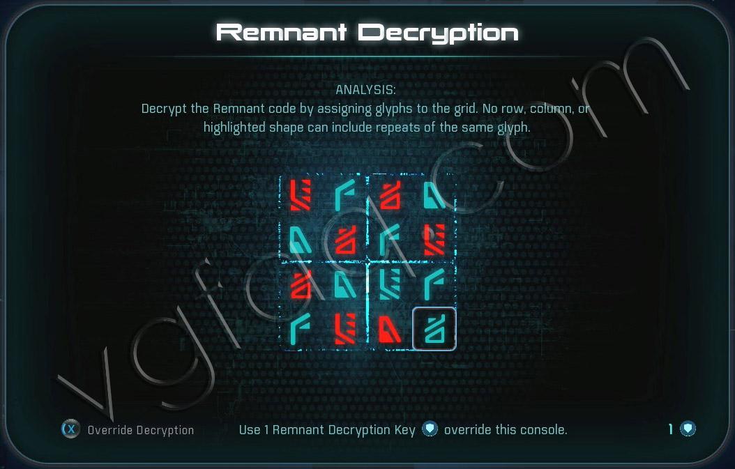 Mass Effect Andromeda Remnant Decryption Puzzle - Voeld - PeeBee Secret Project