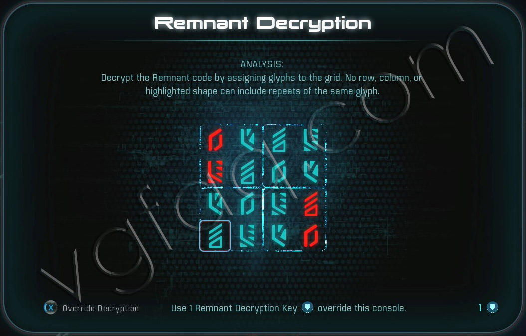 Mass Effect Andromeda Remnant Decryption Puzzle - Voeld Remnant Vault - Restoring a World