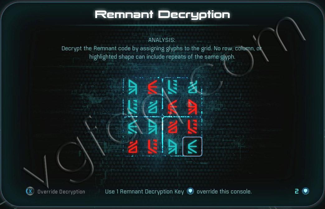 Mass Effect Andromeda Remnant Decryption Puzzle - Voeld - Task Subjugation