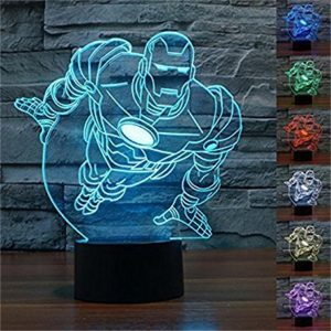 Best 3D Iron Man Figure Shape Night Light