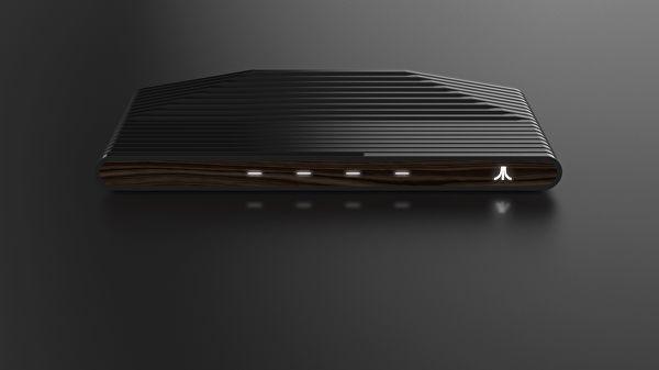 A front view of the newly-announced Ataribox.