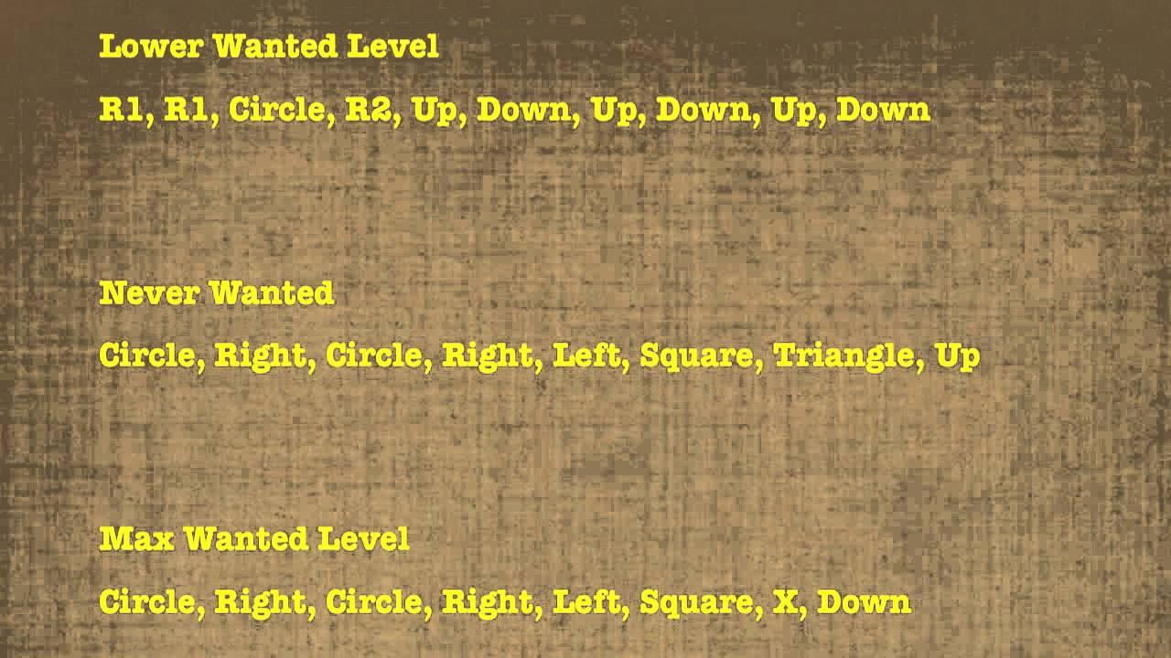 <b>GTA San Andreas</b> - All <b>Cheat Codes</b> (<b>PS2</b> &amp; PS3) - VGFAQ